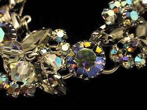 SUPERB VTG JULIANA D&E CRYSTAL AB RHINESTONE BRACELET