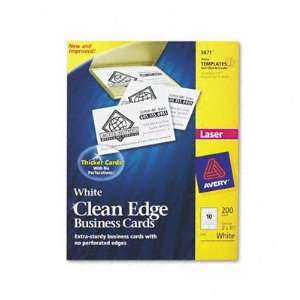 Avery 5871   Clean Edge Laser Business Cards, 2 x 3 1/2