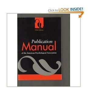com Publication Manual of the American Psychological Association Book