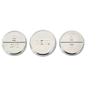 Ford Mustang Chrome Billet Radio Control Button Covers