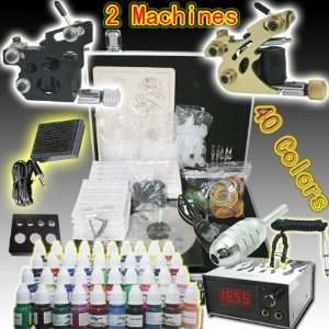 Professional 4pcs High Quality Tattoo Power Supply 40 Tattoo Inks Set