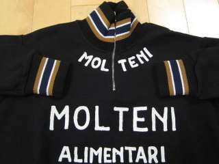 ORIGINAL 70s vintage TEAM MOLTENI cycling JERSEY SHIRT italy Eddy