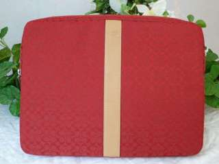 NWOT COACH RED SIGNATURE LAPTOP PROTECTION CASE BAG