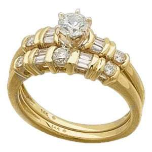 . Diamond Wedding Ring Set, Semi Mount Setting (without Center Stone