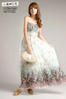 Summer White Chiffon long Dress Full Length Fashion Hot New
