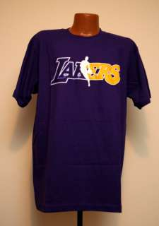 NEW adidas Los Angeles Lakers NBA Logo Wordmark Graphic T Shirt Mens