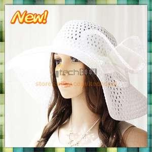 Colors Wide Large Brim Summer Beach Sun Straw Wire Derby Hat