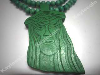 Jesus Piece Rosary Wooden Necklace Christ God Pendant