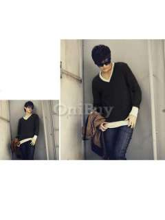 Long Sleeve V neck T shirt Basic Tee Choose Color&Size 03399
