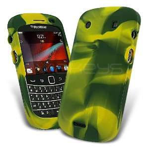 BlackBerry Lemon and Lime Green Silicone Skin Case for