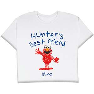 Personalized Childs Best Friends Elmo T shirt, Size 2T