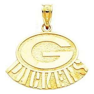 14K Gold NFL Green Bay Packers Logo Charm: Jewelry