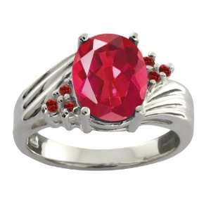 Last Dance Pink Mystic Quartz and Garnet Sterling Silver Ring Jewelry