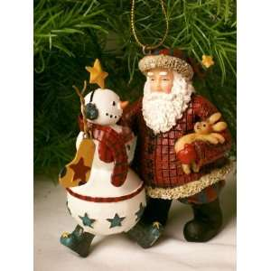 Christmas Ornament Santa & Snowman Electronics