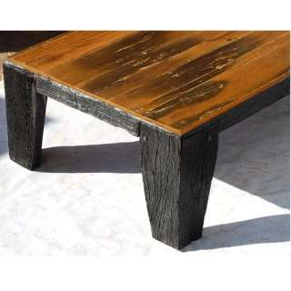 Reclaimed Wood Large Cocktail Sofa Rustic Coffee Table Furniture New