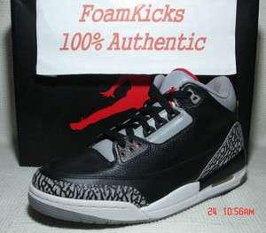 Nike Air Jordan 3 III Retro Black/Cement Varsity Red 136064 010 Men