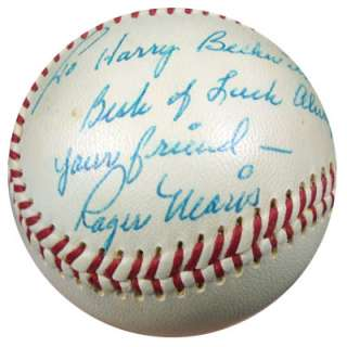 Roger Maris Autographed Signed NL Baseball To Harry PSA/DNA #Q03787