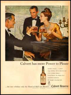 1960 vintage ad for Calvert reserve Whiskey  289