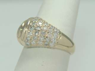 14K Yellow Gold .81ct Diamond Dome Ring