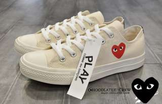des Garcons Cdg Play Converse All Star Shoes Sneakers Low Top