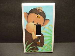Jungle Babies Monkey Nursery Light Switch Cover V176
