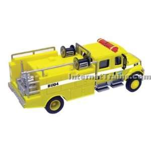 Boley HO Scale International 7000 2 Axle Crew Cab Brush Fire