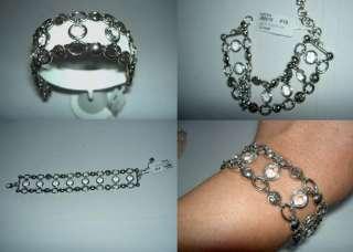 Authentic BRIGHTON Europa Clear Silver Swarovski Crystal Wide