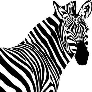 Zebra Head Style #1 Vinyl Wall Art Decal