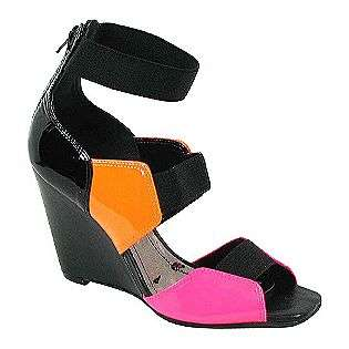 Womens Que Tee   Black/Multi Patent/Leather  Luichiny Shoes Womens