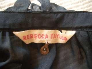 *** REBECCA TAYLOR Ruffled BLACK Blouse TOP  on SELENA GOMEZ