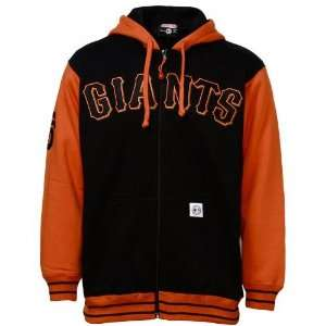 San Francisco Giants Black Arch Lettering Full Zip Hoody