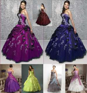 New Wedding Dress Evening Prom Ball Gown Bridesmaids Dresses Sz 6 8 10