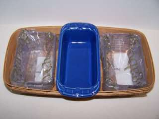 Longaberger RETIRED Woven Traditions Small Loaf Dish CORNFLOWER New in