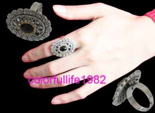 Punk Cool Fashion Vintage Tibetan Silver Ring #0401