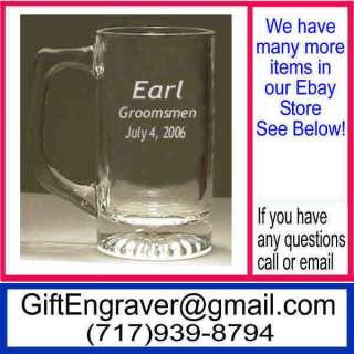 Personalized Glass Mug Bridesmaid Groomsmen Gift 0A2