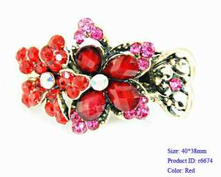 Crystal Flower Hair pin Barrette Clip Pin Fashion new Jewelry