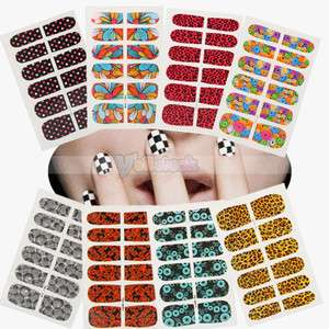 12Pieces Professional Nail Art Half Tip Tips Stickers Sticker