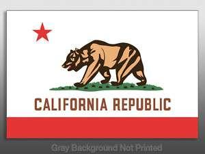 California State Flag Sticker   decal republic bear CA