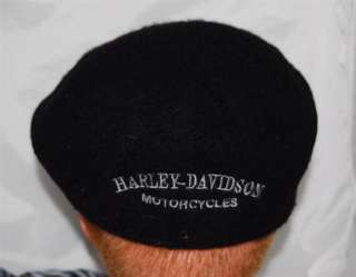 Harley Davidson English Black Beret Wool Hat NEW w/ Tag