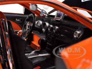 scale diecast car model of 2006 ford mustang gt harley davidson orange