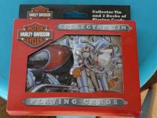 2003 HARLEY DAVIDSON COLLECTOR TIN 2 DECKS CARDS NIB
