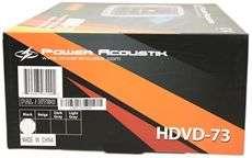 POWER ACOUSTIK HDVD 73BK 7 DVD HEADREST MONITORS