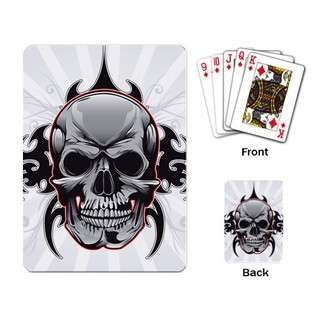 Playing Cards Deck of Tribal Skull (Ancient Tattoo, Art, Flaming