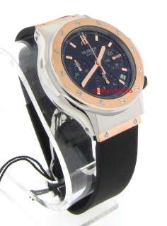 Hublot Classic Chronograph Automatic Date Watch 18k Rose Gold Steel
