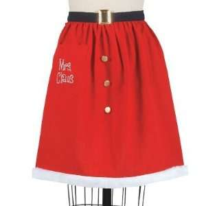 Designs Mrs Santa Claus Christmas Hostess 1/2 apron