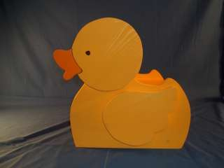 Childrens Wooden Yellow Duck Step Stool