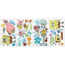 RoomMates SpongeBob SquarePants Peel & Stick Wall Decals   York Wall