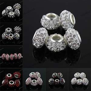 CRYSTAL RESIN EUROPEAN BIG HOLE CHARM BEADS FINDINGS WHOLESALE FIT