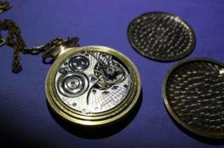 RARE 1919 Illinois Bunn Special 23 Jewels Railroad 16s Pocketwatch w