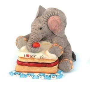 Love is a Birthday Surprise Elephant Figurine by Country Artists